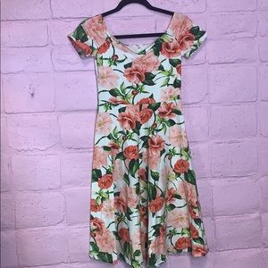 Floral American Apparel Dress